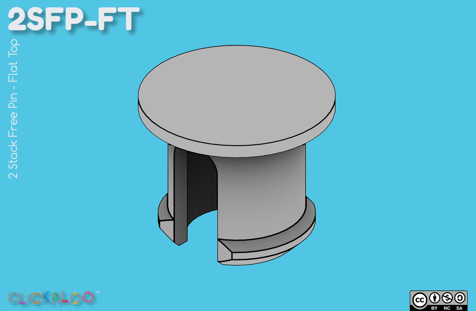 2SFP-FT [2 Stack Free Pin – Flat Top]